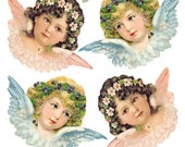 Self Adhesive Angels And Birds Stickers 1 Sheet Colorful Scrapbooking Stickers  Number 119