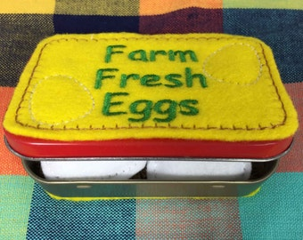 Felt Play Food Container of Eggs