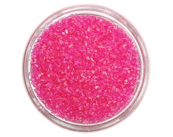 Pink Sanding Sugar - hot pink sprinkles for decorating cupcakes, cakes, cakepops, and cookies