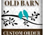 Custom order for Elise G - Vinyl Wall Decal