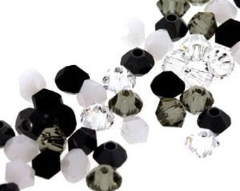 4 mm bicone crystals -Storm Mix 200 count