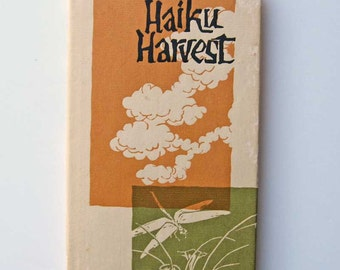 Vintage 1962 Japanese Haiku Harvest Verse Form Book w Dust Jacket, Peter Pauper Press, Poetry, Images, Gift Book, Verse Book, Poems