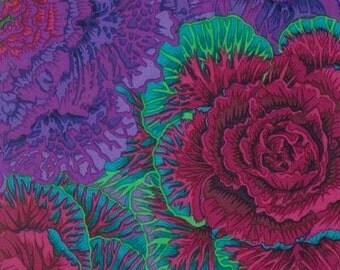 Kaffe Fassett Brassica Purple  Phillip Jacobs Fabric 1 yard