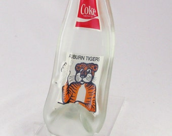 Auburn Tigers - Auburn University - Vintage coke bottle -  Melted COKE bottle spoonrest or dish - things go better with Coke