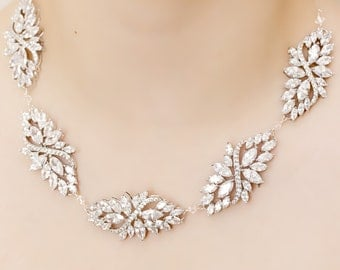 Statement Crystal Neckace, wedding necklace, bridal necklace