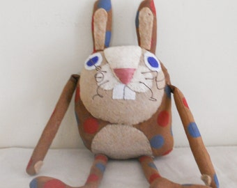Primitive Spring and Easter Whimsical Bunny Rabbit