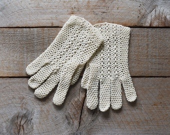 Vintage Gloves, Summer Gloves, Crocheted Gloves, Crocheted Summer Gloves, Vintage Gloves, Women's Vintage Fashion, Wedding Gloves