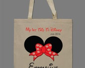 Personalized Monogrammed Tote Bag Child's Bag Disney Tote