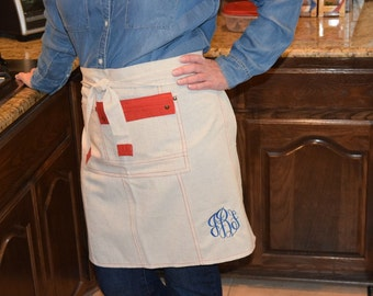 Personalized Half Apron/Personalized Gift/Bridal Shower Gift