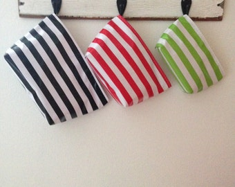 Beth's Stripes Mix and Match Oilcloth Cosmetic Bag Trio