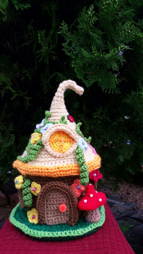 Free Amigurumi Gnome Pattern : Items similar to Fairy /Gnome Fantasy house handmade ...