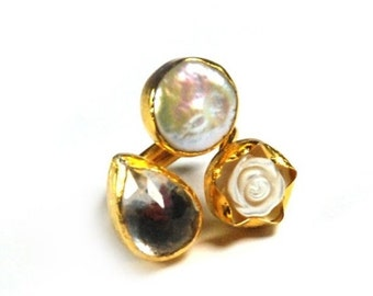 30% Fall Sale White Rose Ring