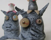 lowbrow one of a kind figure  monster by mealy monster land rat problems