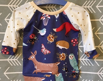 One of a a Kind Toddler Raglan Shirt Size 18-24 month