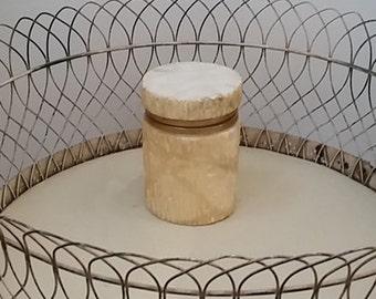 rare vintage Italian alabaster jar,container