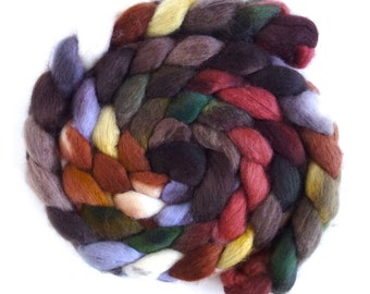 BFL Wool Roving - Hand Painted Spinning or Felting Fiber, Hard to Find