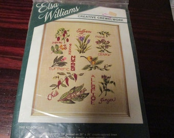 Elsa Williams Crewel Embroidery Kit Spice 00236 Vintage Kit
