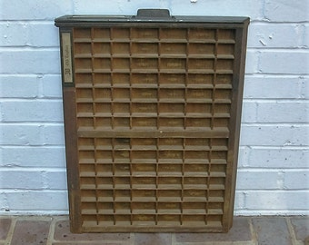 Antique Vintage Printers Wooden Tray Antique Vintage Ludlow Printers Drawer Shadow Box Letterpress Tray 98 Sections