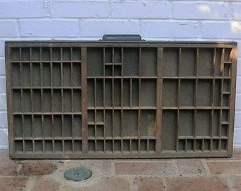 Antique Vintage Printers Wooden Tray Antique Vintage Hamilton Printers Drawer Shadow Box Letterpress Tray 88 Sections