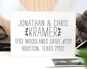 Address Stamp, Custom Address Stamp, Return Address Stamp, Self Inking Address Stamp, Wedding Gift - 1027