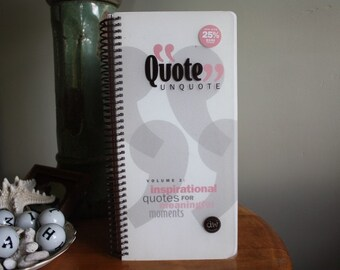 Quote UnQuote Inspirational Quote Book by Autumn Leaves for Scrapbooking & Crafts