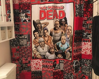 Walkin Dead Shower Curtain (not a licensed product)