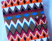 Legal Pad Fabric Notebook Organizer with Pockets, Pad, and Pen, Multi Colored Tribal Print