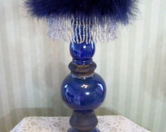 Hat Stand For Your Kentucky Derby Hat, Store Display, Cobalt Blue Hat Display Stand By Ms.Purdy