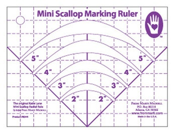 Mini Scallop Marking Template Ruler by Marti Michell