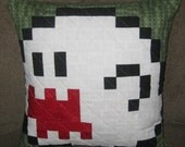 Boo Quilted Pillow Cover - Free Shipping
