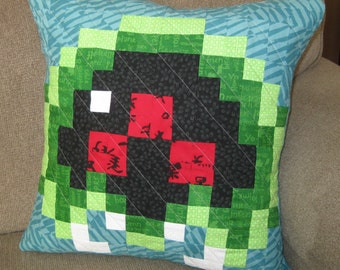 Baby Metroid Quilted Pillow Cover - free USA shipping