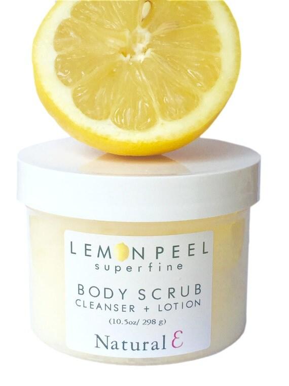 Lemon Body Scrub/ Lemon Body Polish/ In-Shower Body Lotion/ Exfoliating Scrub/ Multitasking Sugar Scrub