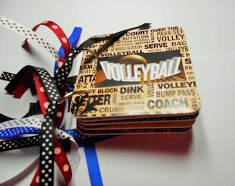 Volleyball Mini Album, Volleyball Scrapbook, Premade Album,  Brag Book, Photo Album, Sports Album, chipboard Album, Memory Book, Volleyball