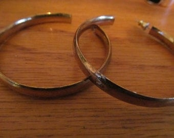 gold colored hoops post