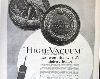 145  Eureka Vacuum Ad - 1927
