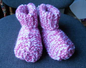 Hand Knitted  child's slipper boots