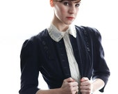 ON SALE Navy Two Piece Skirt Suit 1940s