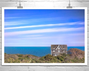 Block Island, Rhode Island Art, New England Print, Atlantic Ocean Art, Seascape Photo, Seacoast Art, Seaside, Architecture Art, Purple