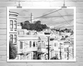 San Francisco, Architecture Art, Coit Tower, Black and White, City Art, City Streets, Urban Art, Cityscapes, Urban Photograph, MurrayBolesta