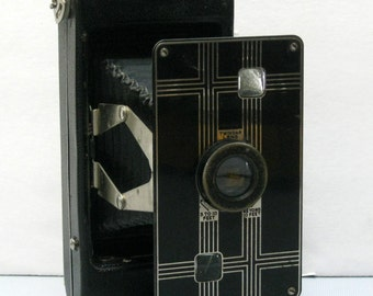 Vintage Kodak Jiffy Six-16 Art Deco Folding Camera  1933-1937