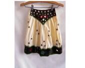 Vintage Girls Skirt Indian Embroidered Cotton Mirror Tribal Hippie Boho Gypsy