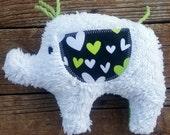 Annie Plush Upcycled Elephant