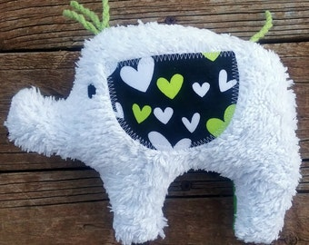 Annie Plush Upcycled Elephant
