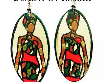 Badu Warrior Earrings