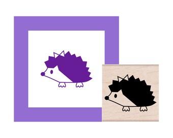 Hedgehog Girl Rubber Stamp