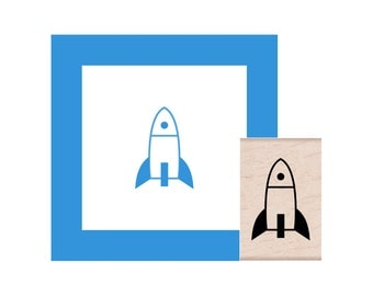 Rocket Rubber Stamp