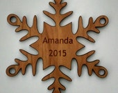 New 2015 Custom Snowflake Ornament Personalized Free Shipping USA