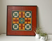 Hand Painted Signed 2 Sided Game Board Parcheesi Checkers