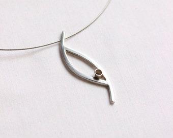 Sterling silver Little bird pendant, simple, delicate, contemporary, small pendant