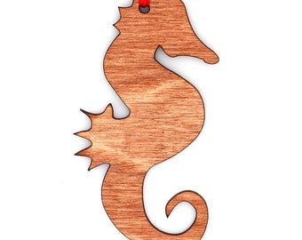Wooden Seahorse Ornament
